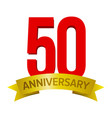 50 anniversary label vector image