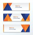abstract banner design blue orange vector image