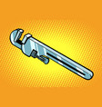 adjustable wrench tool for the job vector image vector image