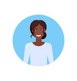 african american businesswoman face avatar vector image