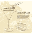 Alcoholic Cocktail Golden dream scetch vector image vector image