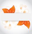 Autumnal seasonal nature background with orange vector image vector image