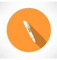 ballpoint pen icon vector image