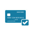 bank card check done icon vector image