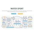 banner water sport vector image vector image
