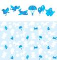 blue kid pattern vector image vector image