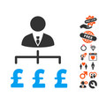 boss pound payments icon with dating bonus vector image