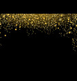 bright luxurious golden particle mist falling vector image