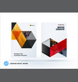 brochure design triangles template colourful vector image