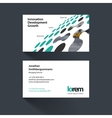 business card template with perspective vector image vector image