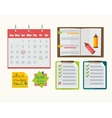 Calendar with note notebook plan vector image vector image