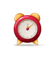 cartoon alarm red clock shadow and reflect vector image