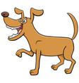 cartoon playful dog funny animal character vector image vector image