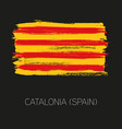 catalonia brush strokes painted country flag vector image vector image