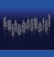 city skyline background vector image vector image