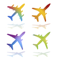 commercial airplanes vector image vector image