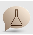 Conical Flask sign Brown gradient icon on bubble vector image vector image