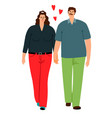 couple love man and woman isolated on white vector image vector image