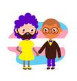 cute happy smiling transgender couple vector image vector image