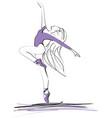 dance ballerina girl ballet silhouettes vector image