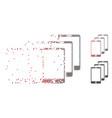 decomposed pixel halftone smartphones icon vector image vector image