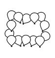 Decorative Birthday balloons vector image vector image
