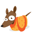 Dog in a Bag vector image vector image