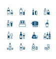 drink bottles icons - micro series vector image