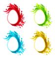 Easter set flourish grunge eggs isolated on white vector image vector image