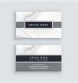 elegant gray business card template with marble vector image vector image