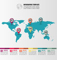 flat world map infographic template with number vector image