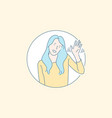 friendly nonverbal greeting gesture concept vector image vector image