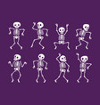 funny skeleton symbol halloween cartoon vector image vector image