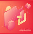 geometric abstract isometric design background vector image