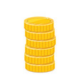 golden coins stack metal currency realistic vector image