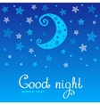 good night vector image vector image