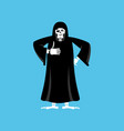 grim reaper thumbs up death winks skeleton in vector image
