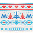 handmade knitted borders pattern with christmas vector image vector image