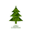 isolated christmas tree made with fir leaves vector image