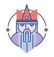 king line color icon vector image vector image