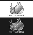 knitted wear logo vector image