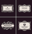 Label frames elegant border set Vintage banner vector image vector image