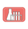 laboratory glass flasks and test tubes icon vector image vector image