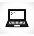 laptop icon black design vector image vector image