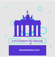 lets explore the beauty of brandenburg gate vector image