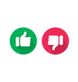 like and unlike thumb up and down icons vector image vector image