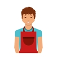 man with apron character vector image vector image