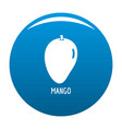 mango icon blue vector image