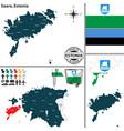map of saare estonia vector image vector image