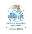 marketing automation coordinator concept icon vector image vector image